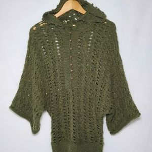 Free People SOFT mohair alpaca open knit sweater